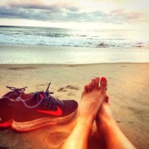 After a short run chasing the waves along the shoreline at Corolla, NC